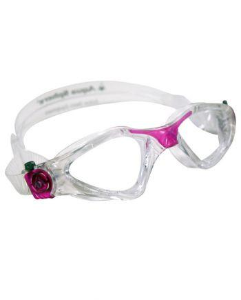 Aqua Sphere - Kayenne Ladies Translucent / Fuchsia Swim Goggles, Clear Lenses