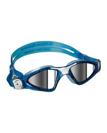 Aqua Sphere Kayenne Small Fit Aqua / White Swim Goggles, Mirrored Lenses