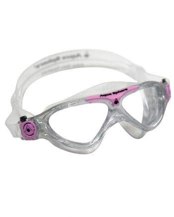 Aqua Sphere - Vista Jr Glitter / Light Pink Swim Goggles, Clear Lenses