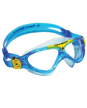 Aqua Sphere - Vista Jr Translucent Blue Yellow Swim Goggles / Clear Lenses