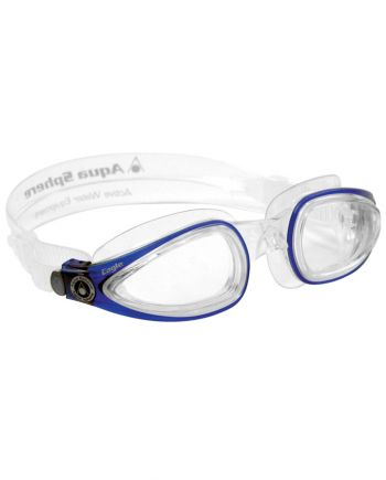 Aqua Sphere - Eagle Blue Swim Goggles, Clear Lenses
