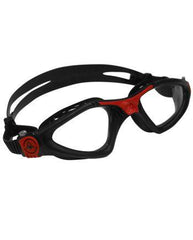 Aqua Sphere - Kayenne Regular Fit Black / Red Swim Goggles, Clear Lenses