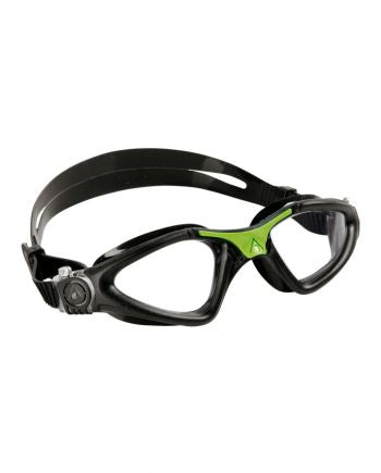Aqua Sphere - Kayenne Regular Fit Black Green Swim Goggles / Clear Lenses