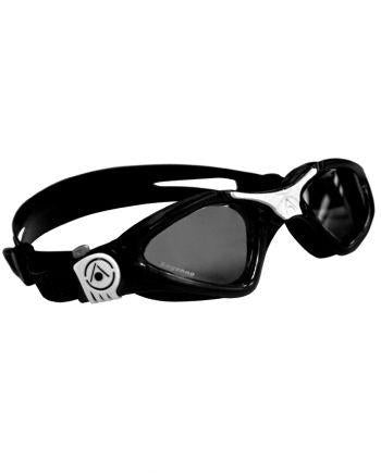 Aqua Sphere - Kayenne Small Fit Black / White Swim Goggles, Smoke Lenses