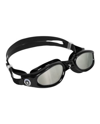 Aqua Sphere - Kaiman Regular Fit Black Swim Goggles, Mirrored Lenses