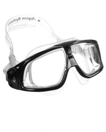 Aqua Sphere - Seal 2 Black / Gray Swim Goggles, Clear Lenses