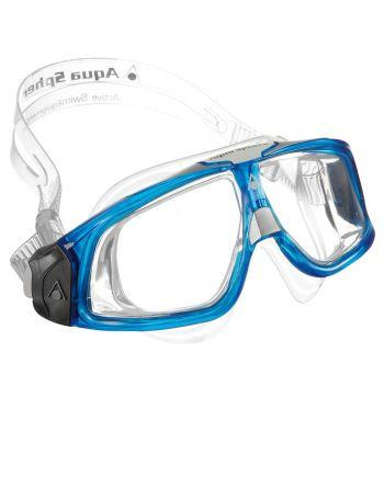 Aqua Sphere - Seal 2 Translucent Blue White Swim Goggles / Clear Lenses