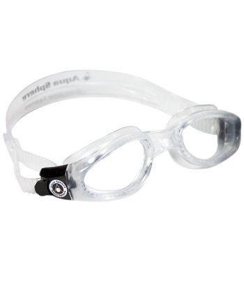 Aqua Sphere Kaiman Small Fit Translucent Swim Goggles, Clear Lenses