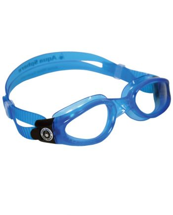 Aqua Sphere Kaiman Small Fit Blue Swim Goggles, Clear Lenses
