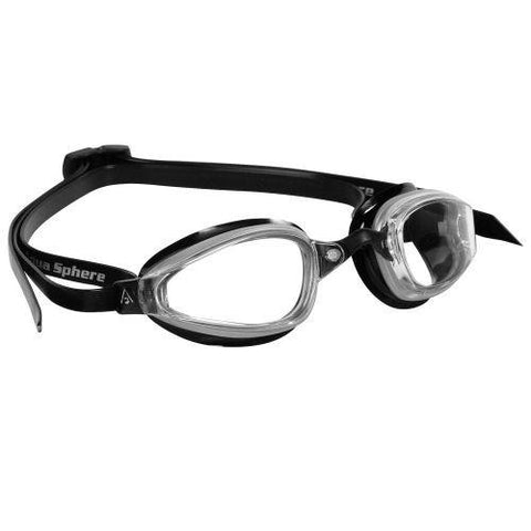MP Michael Phelps - K180 Black Silver Swim Goggles / Clear Lenses