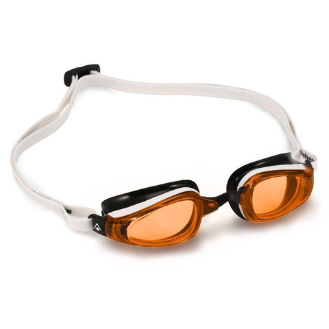MP Michael Phelps - K180 White Black Swim Goggles / Orange Lenses