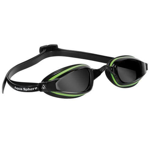 MP Michael Phelps - K180+ Black Green Swim Goggles / Smoke Lenses
