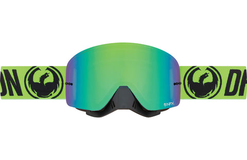 Dragon - NFX Break Green MX Goggles / Green Ion + Clear Lenses