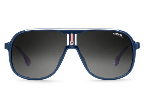 Carrera - 1007 Blue Sunglasses / Dark Gray Gradient Lenses