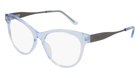 Puma - PU0186O Light Blue + Ruthenium Eyeglasses / Demo Lenses