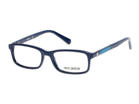 Harley-Davidson - HD0129T Shiny Blue Eyeglasses / Demo Lenses