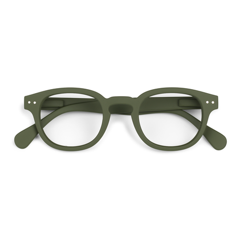 Izipizi #C Khaki Green Eyeglasses / Screen Blue Light Clear Lenses