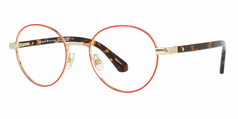 Kate Spade - Marciann 49mm Gold Red Eyeglasses / Demo Lenses