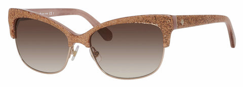 Kate Spade - Shira S Rose Jade Sunglasses / Warm Brown Gradient Lenses