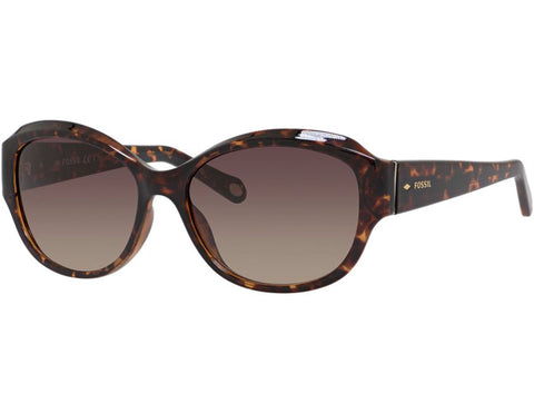 Fossil - 3028  Dark Havana  Sunglasses / Warm Brown Gradient  Lenses