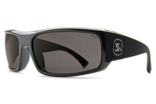 VonZipper Kickstand Black Gloss PBV Sunglasses, Wildlife Vintage Grey Polarized Lenses