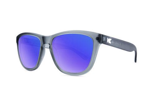 Knockaround - Premiums Frost Grey Sunglasses, Polarized Moonshine Lenses