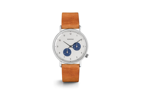 Komono - Magnus II Blue Cognac Watch