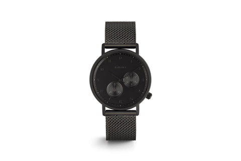 Komono - Walther Black Mesh Watch