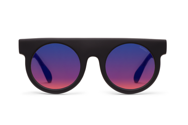 Komono Hippolyte Black Rubber Sunglasses