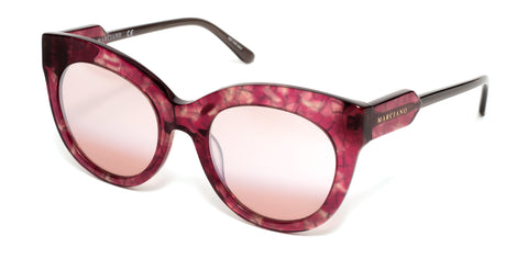 Marciano - GM0787 Red Havana Sunglasses / Gradient Violet Mirror Lenses