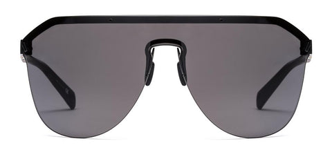 Westward Leaning - VIBE 02 Matte Black Sunglasses / Super Black Lenses