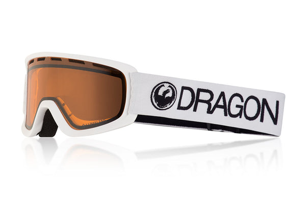 Dragon - Lil D White Snow Goggles / Lumalens Amber Lenses