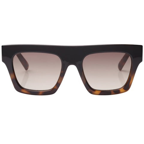 Le Specs - Subdimension Black Tortoise Sunglasses / Khaki Gradient Lenses