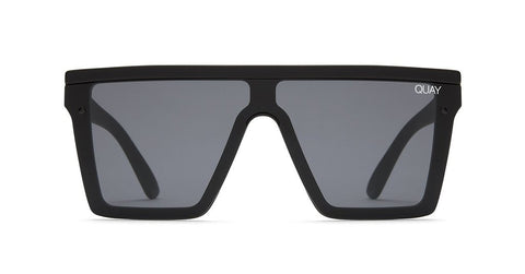 Quay - Hindsight Black Sunglasses / Smoke Lenses
