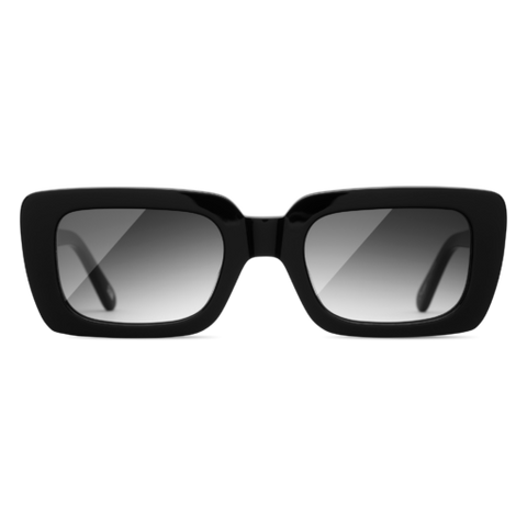 CHiMi - Laser Solid 52mm Black Sunglasses / Black Gradient Lenses