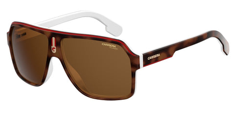 Carrera - 1001 Havana White Sunglasses / Brown Gradient Lenses