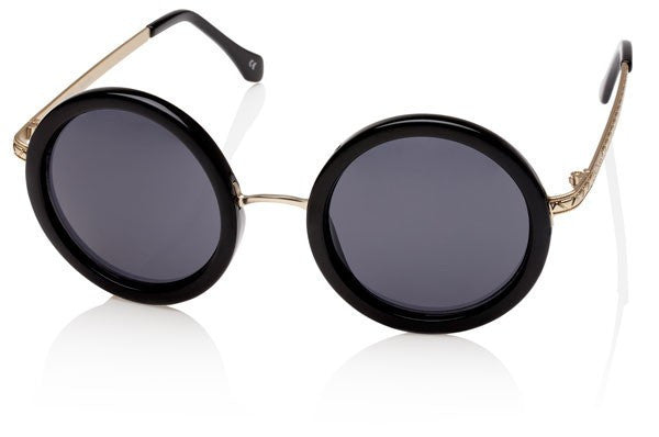 Le Specs Ziggy Black & Gold Sunglasses