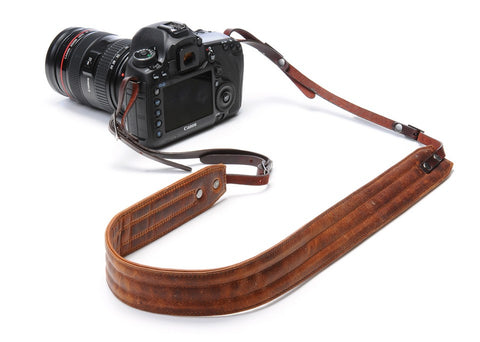 ONA - Leather Presidio Antique Cognac Camera Strap