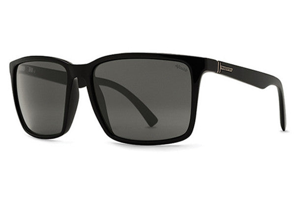 VonZipper - Lesmore Black Smoke Satin PSV Sunglasses, Wildlife Vintage Grey Polarized Lenses