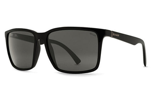 VonZipper Lesmore Black Smoke Satin PSV Sunglasses, Wildlife Vintage Grey Polarized Lenses