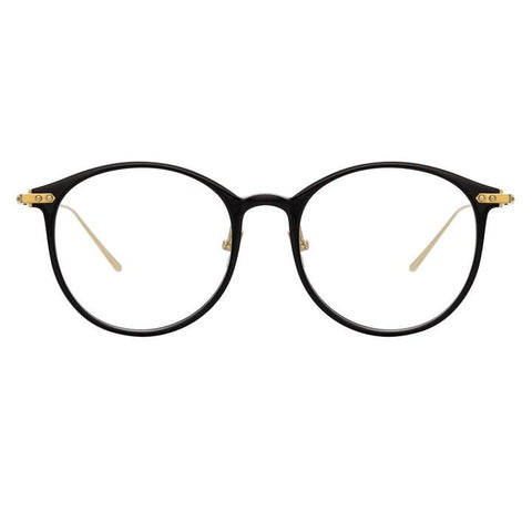 Linda Farrow Linear - Gray 51mm Black Light Gold Eyeglasses / Demo Lenses