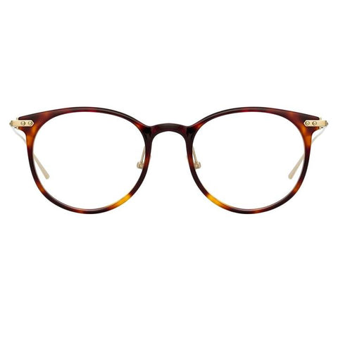 Linda Farrow Linear - Childs 48mm T-Shell Luna Gold Eyeglasses / Demo Lenses