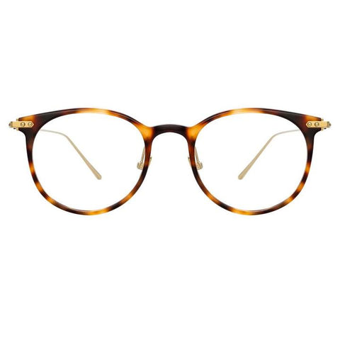 Linda Farrow Linear - Childs 48mm Light T-Shell Light Gold Eyeglasses / Demo Lenses
