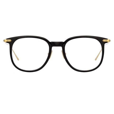 Linda Farrow Linear - Stern 49mm Black Light Gold Eyeglasses / Demo Lenses