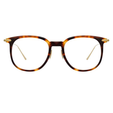 Linda Farrow Linear - Stern 49mm Light T-Shell Light Gold Eyeglasses / Demo Lenses