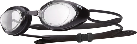TYR - Blackhawk Racing Adult Matte Black Swim Goggles / Clear Lenses