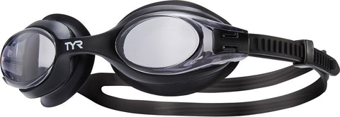 TYR - Big Swimple Adult Smoke Swim Goggles / Clear Lenses