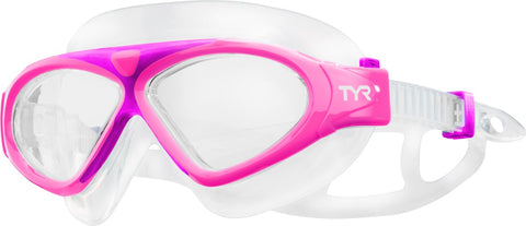 TYR - Junior Magna Swim Mask Pink Swim Goggles / Clear Lenses