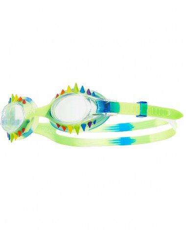 TYR - Swimple Spikes Tie Dye Kids Blue Swim Goggles / Clear Lenses