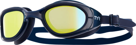 TYR - Special Ops 2.0 Polarized Navy Swim Goggles / Gold Lenses